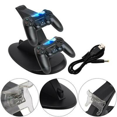LED PS4 Playstation4 Ladestation Dockingstation USB Dual Controller Dock Charger