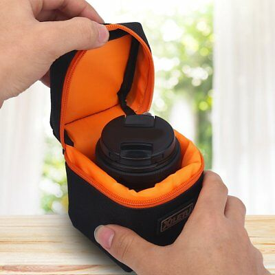 Shockproof Mirrorless Camera Lens Case Insert Partition Padded Bag Black