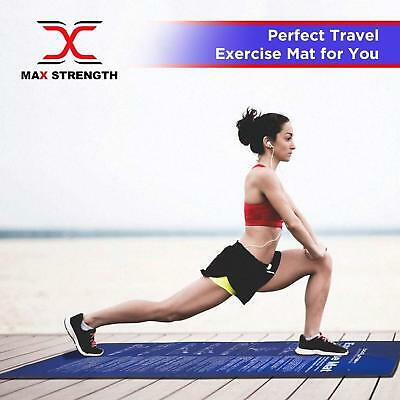 Max Strength Folding Exercise Mat Gymnastics Pilates Non Slip Fitness Workout