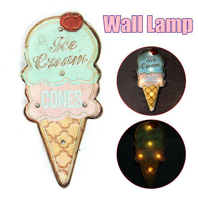 Ice Cream Cone shaped sign Advertising LED Light Sign Coffee Wall Hanging Decor