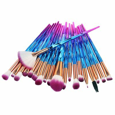 20PCS Silky Soft Make up Brush Set Foundation Blusher Face Powder Brushes US DE