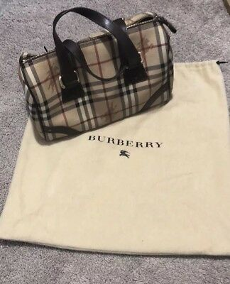 827b3feed03 HUGELY DISCOUNTED BURBERRY Haymarket Duffle Weekender Travel Bag ...