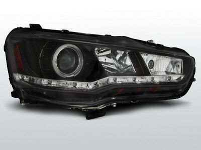 LED-ul frontal pereche DRL Look Mitsubishi Lancer 8 2008- Daylight negri ES LPMI
