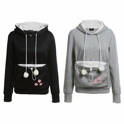 Kangaroo Cat Pouch Dog Pet Pocket Hoodie Jumper Maternity Baby Kitty Carrier EY