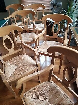 Pottery Barn Napoleon Armchairs Dining Chairs Light Oak