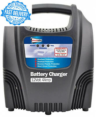 Streetwize SWCBC4 Compact Plastic Cased Battery Charger 12 V 4 A