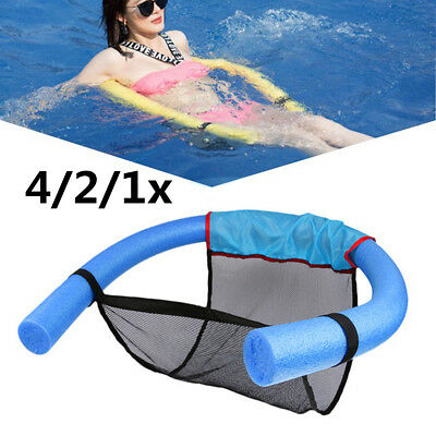 4x Swimming Pool Seat Floating Chair Noodle Sling Net Bed Chair Float Holiday