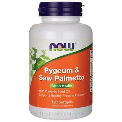 NOW Foods  Pygeum & Saw Palmetto 60 or 120 softgels supports healthy prostate