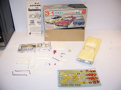 Amt 3 In 1 Customizing Convertible Kit 1960 Ford Sunliner