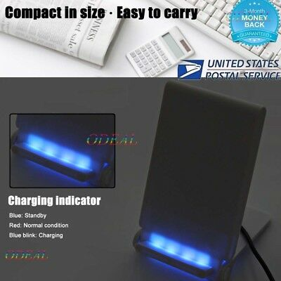 QI Wireless Charger Fast Charging Stand Dock Galaxy S9 Note 9 for iPhone xr x