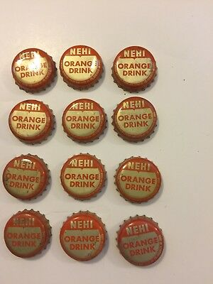 Vintage Nehi Orange Soda Bottle Caps With Cork Liners
