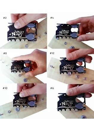 Wallet  - Credit Card Sized Multi Tool Christmas Present Stocking Filler New
