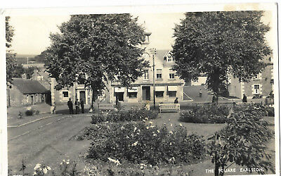 Scotland The Square Earlston Real Photo Vintage Postcard 23.10