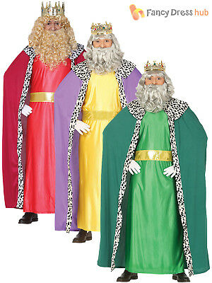 Mens Wise Man Men Costume Christmas Fancy Dress Three King Nativity Outfit Adult