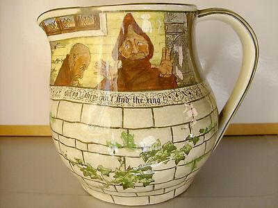 * OLD / VINTAGE * ROYAL DOULTON England * The JACKDAW of RHEIMS * LARGE JUG *