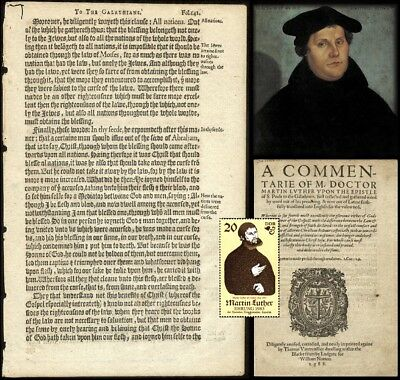 500th Anno! RARE!! 1588 MARTIN LUTHER REFORMATION -'leaf' To FRAME & GREAT GIFT!