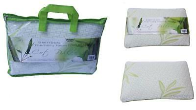 Infant Bamboo Memory Foam Cot Pillow -Nursing Pillow with Removable Zipped cover