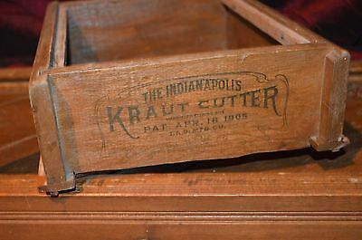 """Antique """"The Indianapolis Kraut Cutter"""", Patented April 18, 1905, T & D Mfg. Co"""