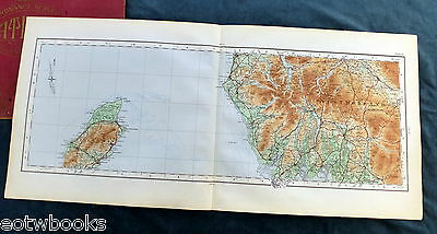 Vintage cloth OS MAP of CUMBERLAND, WESTMORLAND  & THE ISLE OF MAN - 1922