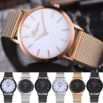 Luxury Womens Ladies Silicone Strap Band Casual Analog Quartz Wrist Watch 2019