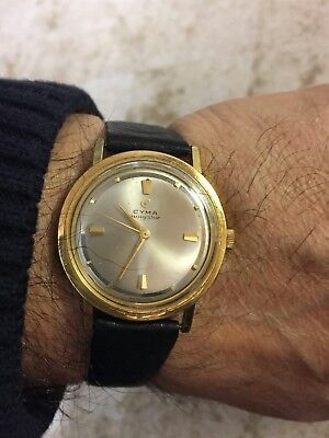 VINTAGE 1960 s MEN'S CYMA MANUAL WIND MEN'S WATCH VERY GOOD WORKING CONDITION