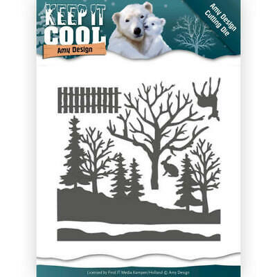 Stanzschablone - Amy Design - Keep it Cool - Winterwald
