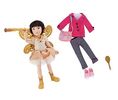 Kruselings Doll Luna, Deluxe Set with Magical Outfit, Casual Outfit and Acces...