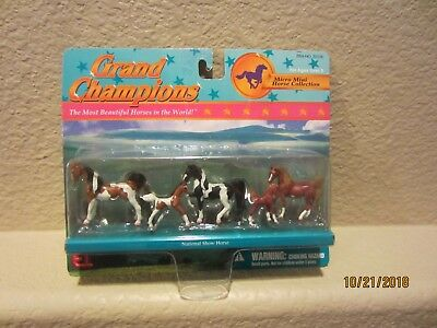 Grand Champions National Show Horse 5 Micro Mini Horses -Paints&Chestnuts!! NRFB