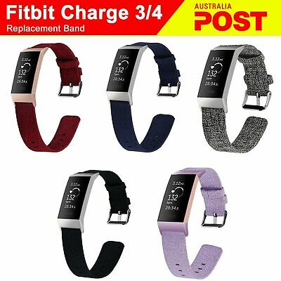 Fitbit Charge 3 Canvas Woven Replacement Watch Bands Bracelet Wrist Strap
