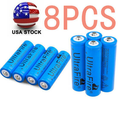 4/8pcs 3000mAH 18650 Battery 3.7v Li-ion Rechargeable Batteries For Torch Toy`