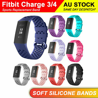 Fitbit Charge 3 Sports Replacement Watch Bands Bracelet Wrist Strap Breathable