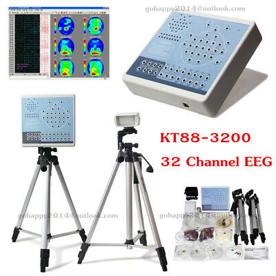 KT88-3200 Digital 32 Channel EEG And Mapping Systems Machine+Software+2 Tripods