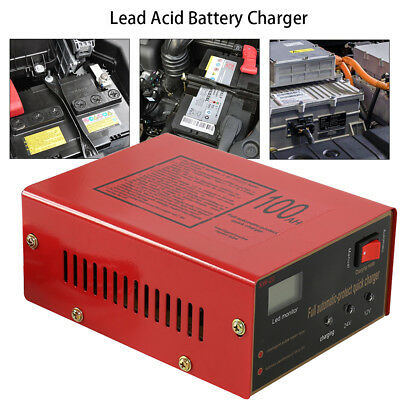 12V/24V 10A Auto Fast Lead-acid Battery Charger For Car Motorcycle US Plug
