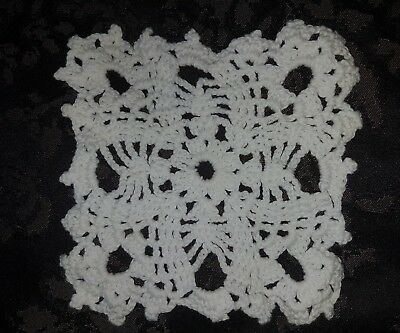 Beautifully Handmade Vintage Crocheted Doilie. 13cm. Beautifully detailed