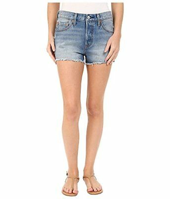 6d30a3b6d0 Levi's Women's 501 Denim Shorts, Size 32, Button Fly, Light Wash distressed  NWOT