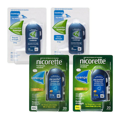 Nicorette Nicotine Lozenges 2Mg 4Mg Icy Mint Fruit 20 80 Choose And Quit Smoking