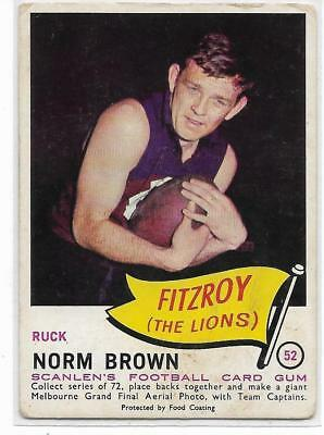 1966 Scanlens (52) Norm BROWN Fitzroy :