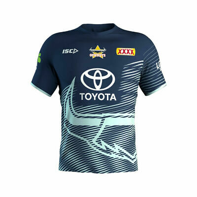 North Queensland Cowboys NRL 2019 ISC Navy Glacier Training Shirt Sizes S-5XL!