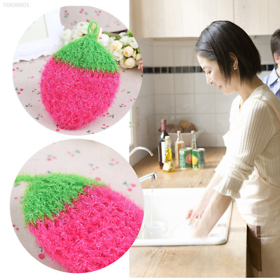 4F03 Acrylic Stawberry Dishcloths Fiber household  Wash Cloth*Towel for Kitchen