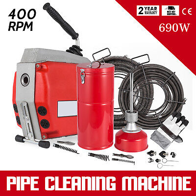 690W Drain Pipe Cleaning Machine SUPERIOR SPIRALS HIGH QUALITY ON SALE