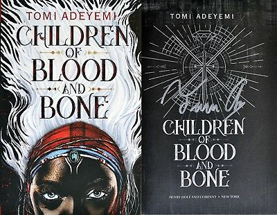 Tomi Adeyemi~SIGNED IN PERSON~Children of Blood and Bone~1st Edition + Photos!!