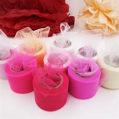 25Yard Tutu Tulle Roll Spool Netting Craft Fabric Wedding Party  DIY Decor New