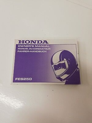 Libretto Manual uso manutenzione use maintenance HONDA FES FORESIGHT 250 1998