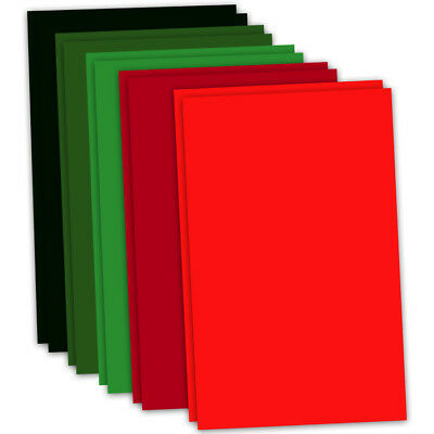 CRAFT ARTIST Flower Moulding Foam 10 x A4 Sheets 2 of each col XMAS CT27829-1