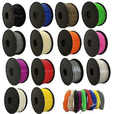 3D Printer Filament PLA/ABS - 1.75mm -1KG(350Meters) - Various Colours Available