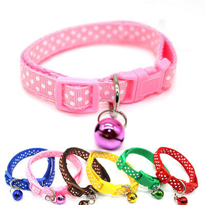 Lovely Dog Cat Collar Pet Puppy Kitten Adjustable Harness Neck Strap with Bell