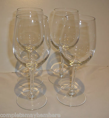 Set of 4 Arcoroc France 12 ozs 350ml Wine Glasses Drinkware Bar Party Weddings