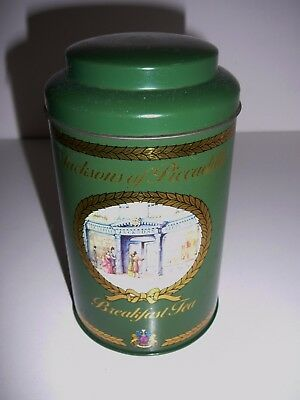 Jacksons of Piccadilly Breakfast Tea Tin 16cms Collectable Advertising