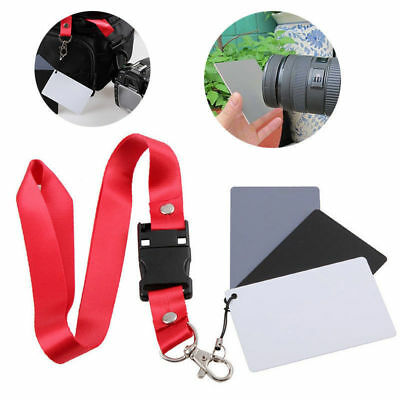 Grey White Black Card 18% 3-in-1 Digital Accessories Set White Exposure Balance