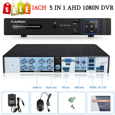 FLOUREON 1080N 16CH CCTV HDMI HD DVR Video Recorder for CCTV DVR Camera System